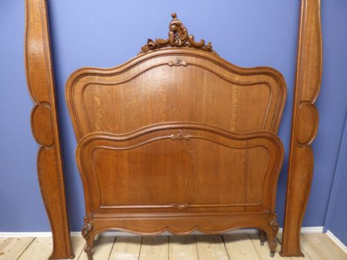 Antique Oak French King Size / Double Bed - g113